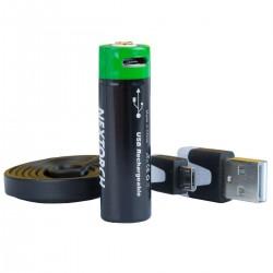 Batterie Rechargeable 14500 USB Li-Ion 3.6V 750 mAh