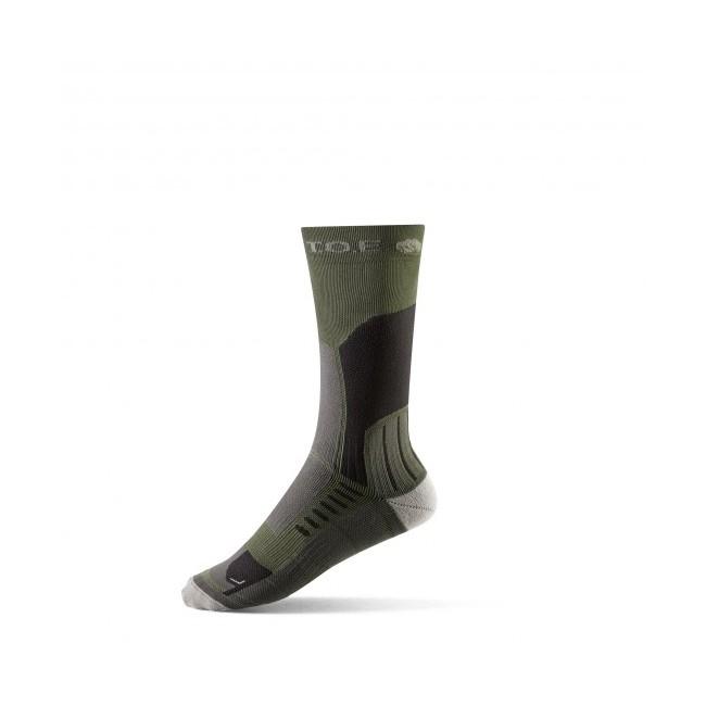 Chaussettes climat chaud longues marches vert OD