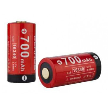 Batterie rechargeable 16340 3.7V 700mAh (CR123A)