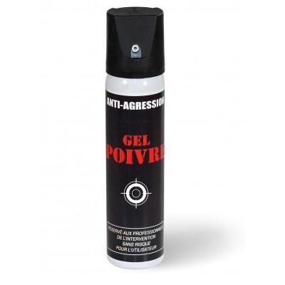Aérosol lacrymogène anti-agression gel poivre 75 ml