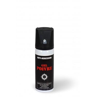 Aérosol lacrymogène anti-agression gel poivre 50 ml