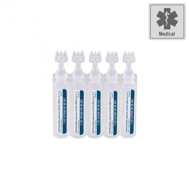 Chlorhexidine 0,2% X10 de 5ml.