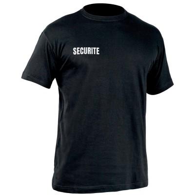 T-shirt Sécu-One sécurité Noir.