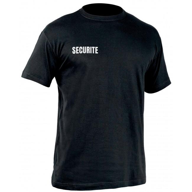 T-shirt Sécu-One sécurité Noir