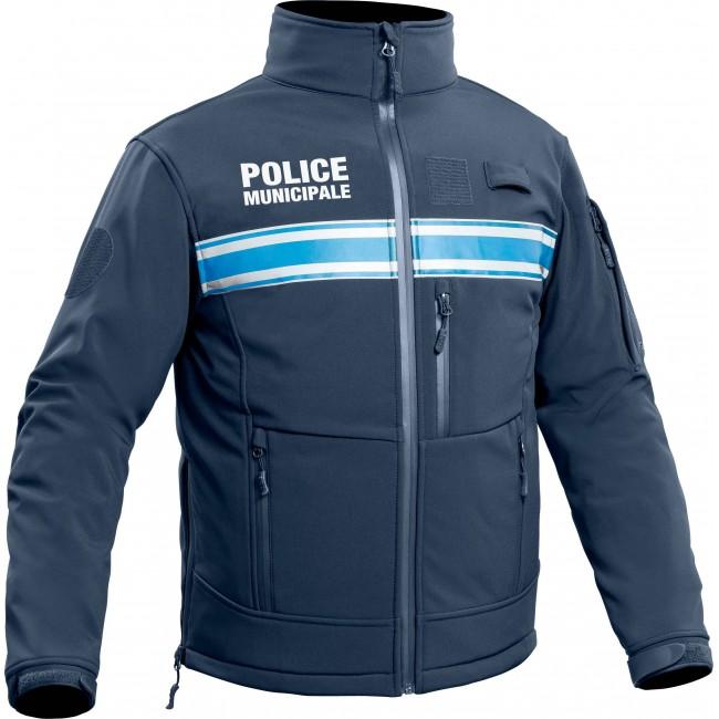 Veste Softshell Police Municipale P.M. ONE Bleu Marine Foncé