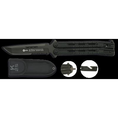 Couteau Papillon Tactique K25 avec étui Lame 11.4cm