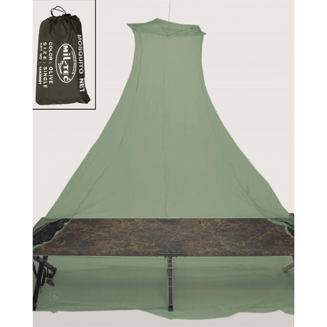 Moustiquaire de lit avec poche Olive