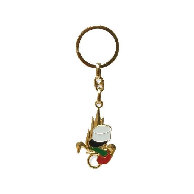 Porte Clé métal Légion Flamme Épaulette Képi