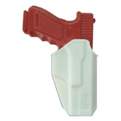 Holster a rétention Glock 17 polymère blanc droitier