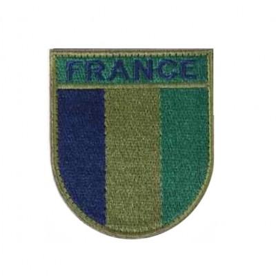 Ecusson de bras brodé sur tissu basse visibilité France.