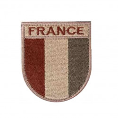 Ecusson de bras brodé sur tissu désert France.