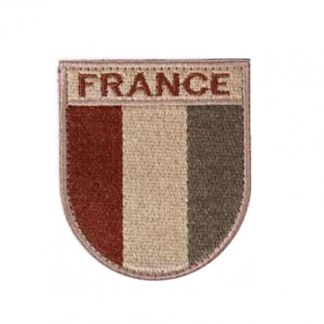 Ecusson de bras France désert brodé sur tissu