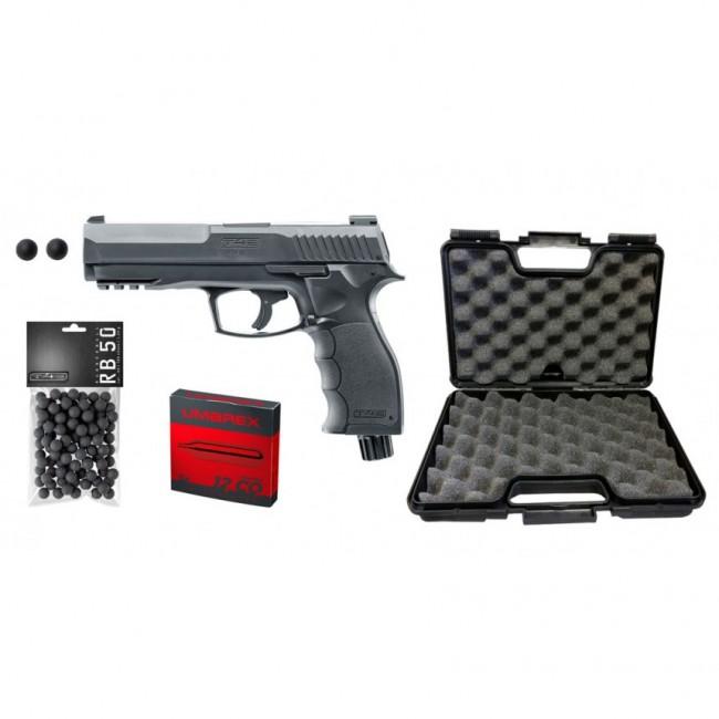 Pistolet de Défense HDP 50 CO2 11J + Mallette + CO2 + 100 x Billes T4E
